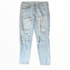 Hollister High Waist Light Washed Distressed Jeans